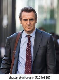 NEW YORK - NOVEMBER 4: Liam Neeson is seen on November 4, 2016 in New York City.