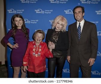 NEW YORK - NOVEMBER 5: Elle Winter, Dr. Ruth Westheimer, Cyndi Lauper, Bob Woodruff attend Lenox Hill hospital Autumn ball, award ceremony & fundraising to hurricane SAndy victims on Nov 5 2012 in NYC