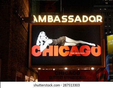 NEW YORK, NY -12 JUNE 2015- The revival of the musical Chicago is playing at the Ambassador Theater on 49th Street in New York with Grammy-winner Brandy in the role of Roxie.