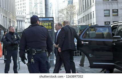 New York, NY - 12.20.2018: Harvey Weinstein entering Manhattan Courthouse for Pre Trial,amid rape and sexual assault allegations. Judge ordered that the case will proceed to trial.