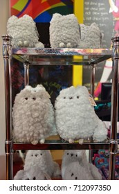 NEW YORK, NY -20 JUL 2017- It's Sugar candy stores carry Pusheen the Cat plush and gifts and host Pusheen parties. Pusheen is a popular cartoon character.