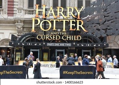 NEW YORK, NY - APR 14: Harry Potter and The Cursed Child on Broadway in New York, as seen on April 14, 2019.
