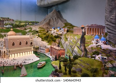 NEW YORK, NY – APR 14: Gulliver's Gate in Manhattan, New York, as seen on April 14, 2019. It is a technologically advanced, interactive and immersive world of miniatures.