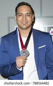 New York, NY - April 13, 2017: Nikhil Seetharam attends the 2017 SESAC Pop Awards at Cipriani 42nd Street