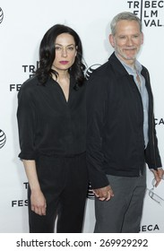New York, NY - April 15, 2015: Kathleen McElfresh and Campbell Scott attend Tribeca Film Festival opening night screening of Live From New York at Beacon Theater