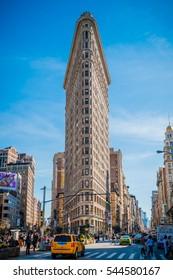 NEW YORK, NY - APRIL 16, 2016: Flatiron Building on April 16, 2016 in Manhattan, New York City.