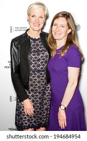 NEW YORK, NY - APRIL 18: Cecile Richards and daughter Lily Adams attend the 'All About Ann: Governor Richards of the Lone Star State' screening during the 2014 Tribeca Film Festival at SVA Theater