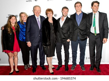 NEW YORK, NY - APRIL 18: B Barnes (3rd from left), C Glassell (C) and family attend the 'All About Ann: Governor Richards of the Lone Star State' screening during the 2014 Tribeca Film Festival