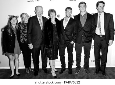 NEW YORK, NY - APRIL 18: Ben Barnes, Curry Glassell (C) and family attend the 'All About Ann: Governor Richards of the Lone Star State' screening during the 2014 Tribeca Film Festival at SVA Theater