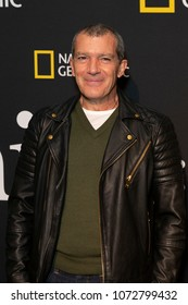 New York, NY - April 19, 2018: Antonio Banderas attends National Geographic unveils installation Genius: Picasso Studio on 100 6th avenue in Manhattan