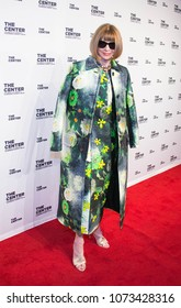New York, NY - April 19, 2018: Dame Anna Wintour attends event honoring her with the Center's Visionary Award and Ricky Martin with The Center's Trailblazer Award at Cipriani Wall Street