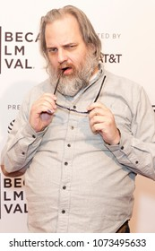 New York, NY - April 20, 2018: Dan Harmon attends premiere of Seven Stages during Tribeca Film Festival at SVA Theater
