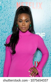 New York, NY - April 23, 2018: Shannon Thornton attends premiere of the The Week Of at AMC Loews Lincoln Square