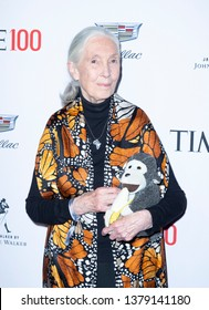 New York, NY - April 23, 2019: Jane Goodall attends the TIME 100 Gala 2019 at Jazz at Lincoln Center
