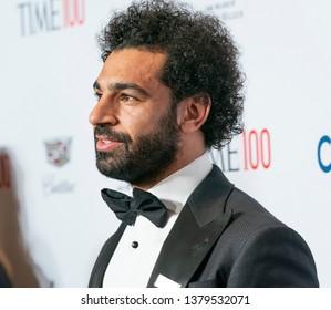 New York, NY - April 23, 2019: Mohamed Mo Salah attends the TIME 100 Gala 2019 at Jazz at Lincoln Center