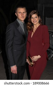 NEW YORK, NY - APRIL 23: Scott Campbell and Lake Bell attend the Vanity Fair Party during the 2014 Tribeca Film Festival at the State Supreme Courthouse on April 23, 2014 in New York City.