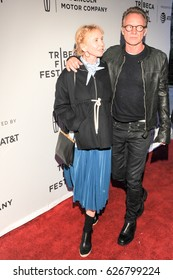 NEW YORK, NY - APRIL 23: Recording artist Sting and actress Trudie Styler attend 'The Clapper' Premiere during the 2017 Tribeca Film Festival at SVA Theatre on April 23, 2017 in NYC.