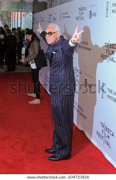 NEW YORK, NY - APRIL 23: Political consultant Roger Stone attends the 'Get Me Roger Stone' Premiere during the 2017 Tribeca Film Festival at SVA Theatre on April 23, 2017 in New York City.
