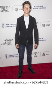NEW YORK, NY - APRIL 24, 2017: Actor Seamus Davey-Fitzpatrick attends 'The Dinner' Premiere at BMCC Tribeca PAC during 2017 Tribeca Film Festival
