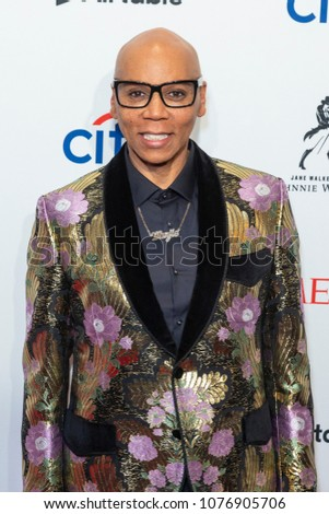 New York, NY - April 24, 2018: RuPaul attends 2018 Time 100 Gala at Jazz at Lincoln Center