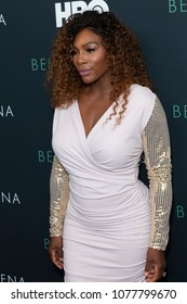 New York, NY - April 25, 2018: Serena Williams attends premiere HBO documentary Being Serena at Time Warner Center