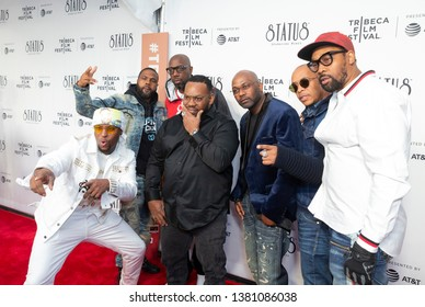 New York, NY - April 25, 2019: Musicians attend Tribeca TV Wu-Tang Clan: Of Mics And Men at Beacon Theatre