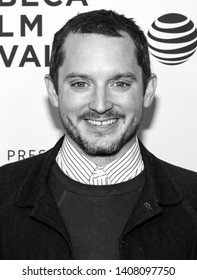 "New York, NY - April 25, 2019: Elijah Wood  attends the ""Come To Daddy"" screening at the 2019 Tribeca Film Festival at SVA Theater"