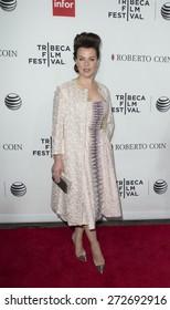 New York, NY - April 25, 2015: Debi Mazar wearing Isabel Toledo dress attends 25th anniversary screening Goodfellas movie during Tribeca Film Festival closing night at Beacon theater