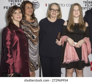 NEW YORK, NY - APRIL 25: (L-R) Domenica Scorsese, Cathy Scorsese, Helen Morris and Francesca Scorsese attend the screening of 'Goodfellas' during the 2015 Tribeca Film Festival at Beacon Theatre