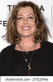 NEW YORK, NY - APRIL 25. 2015: Actress Kelly LeBrock attends the closing night screening of 'Goodfellas' during the 2015 Tribeca Film Festival at Beacon Theatre