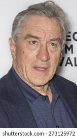 NEW YORK, NY - APRIL 25. 2015:Robert De Niro attends the closing night screening of 'Goodfellas' during the 2015 Tribeca Film Festival at Beacon Theatre