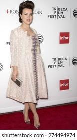 NEW YORK, NY - APRIL 25: Actress Debi Mazar attends the closing night screening of 'Goodfellas' during the 2015 Tribeca Film Festival at Beacon Theatre