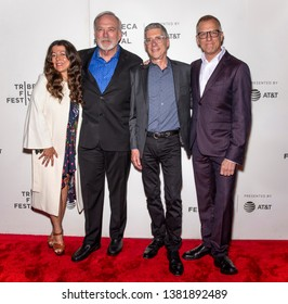 """New York, NY - April 26, 2019: (L-R) Michele Farinola, James Keach, Jeffrey Friedman and Rob Epstein attend the premiere """"Linda Ronstadt: The Sound Of My Voice"""" during the 2019 Tribeca Film Festival"""