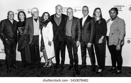 "New York, NY - April 26, 2019: J Zucker, A Entelis, M Farinola, J Keach, J Friedman, Rob Epstein, Courtney Sexton, Alexandra Hannibal attend the premiere of ""Linda Ronstadt: The Sound Of My Voice"""