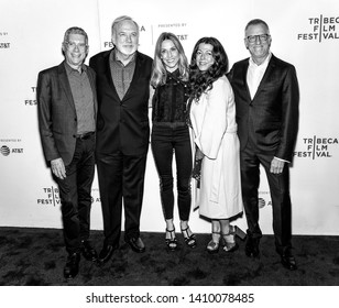"""New York, NY - April 26, 2019: (L-R) Jeffrey Friedman, James Keach, Sheryl Crow, Michele Farinola and Rob Epstein attend the premiere of """"Linda Ronstadt: The Sound Of My Voice"""""""
