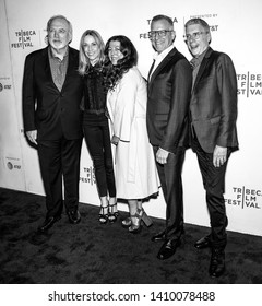 """New York, NY - April 26, 2019: (L-R) James Keach, Sheryl Crow, Michele Farinola, Jeffrey Friedman and Rob Epstein attend the premiere of """"Linda Ronstadt: The Sound Of My Voice"""""""
