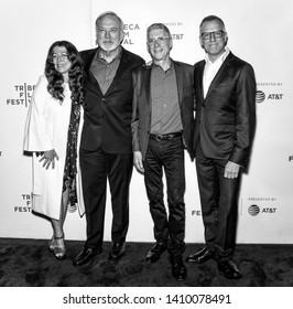 """New York, NY - April 26, 2019: (L-R) Producers Michele Farinola and James Keach, directors Jeffrey Friedman and Rob Epstein attend the premiere of """"Linda Ronstadt: The Sound Of My Voice"""""""