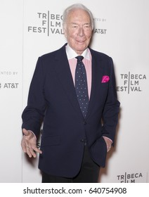 NEW YORK, NY - APRIL 26, 2017: Christopher Plummer attends 'The Exception' screening during the 2017 Tribeca Film Festival at BMCC Tribeca PAC