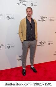 New York, NY - April 27, 2019: Alexander Skarsgard attends world premiere of The Kill Team during Tribeca Film Festival at Stella Artois Theatre at BMCC TRAC