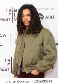 New York, NY - April 27, 2019: Luka Sabbat attends world premiere of Gully during Tribeca Film Festival at SVA Theatre