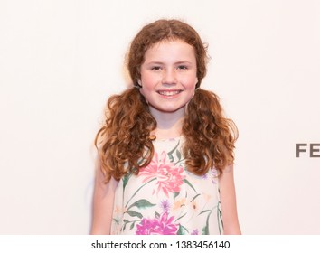 New York, NY - April 28, 2019: Actress Darby Camp attends World premiere of movie Dreamland at Stella Artois Theatre at BMCC TRAC