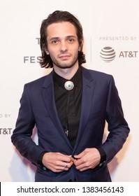New York, NY - April 28, 2019: Director Miles Joris-Peyrafitte attends World premiere of movie Dreamland at Stella Artois Theatre at BMCC TRAC
