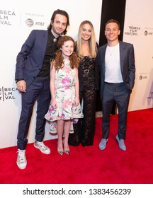 New York, NY - April 28, 2019: Miles Joris-Peyrafitte, Darby Camp, Margot Robbie, Finn Cole attends World premiere of movie Dreamland at Stella Artois Theatre at BMCC TRAC