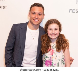 New York, NY - April 28, 2019: Finn Cole, Darby Camp attend World premiere of movie Dreamland at Stella Artois Theatre at BMCC TRAC