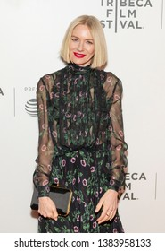 New York, NY - April 28, 2019:  Naomi Watts wearing dress by Valentino attends premiere of movie Luce during 2019 Tribeca Film Festival at Stella Artois Theatre at BMCC TRAC