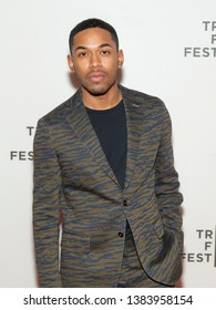 New York, NY - April 28, 2019: Kelvin Harrison Jr. attends premiere of movie Luce during 2019 Tribeca Film Festival at Stella Artois Theatre at BMCC TRAC