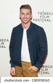 New York, NY - April 28, 2019: Noah Gaynor attends premiere of movie Luce during 2019 Tribeca Film Festival at Stella Artois Theatre at BMCC TRAC