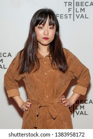 New York, NY - April 28, 2019: Andrea Bang attends premiere of movie Luce during 2019 Tribeca Film Festival at Stella Artois Theatre at BMCC TRAC
