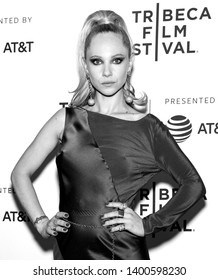 "New York, NY - April 28, 2019: Juno Temple attends the ""Lost Transmissions"" screening during the 2019 Tribeca Film Festival at SVA Theater"