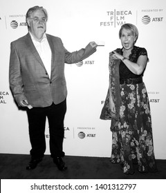 """New York, NY - April 28, 2019: Matt Groening and Yeardley Smith attend """"The Simpsons"""" 30th Anniversary celebration during the 2019 Tribeca Film Festival at BMCC"""